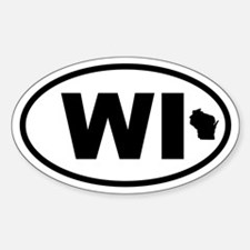 Wisconsin Map Oval Decal