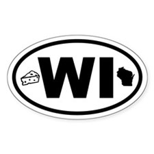Wisconsin Cheese and Map Oval Decal