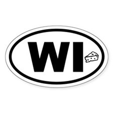 Wisconsin Cheese Oval Decal