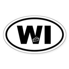 Wisconsin Inset Cheese Oval Decal