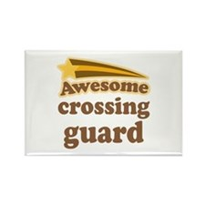 Crossing Guard Rectangle Magnet