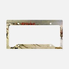 skiing art License Plate Holder