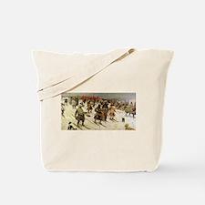 skiing art Tote Bag