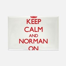 Keep Calm and Norman ON Magnets