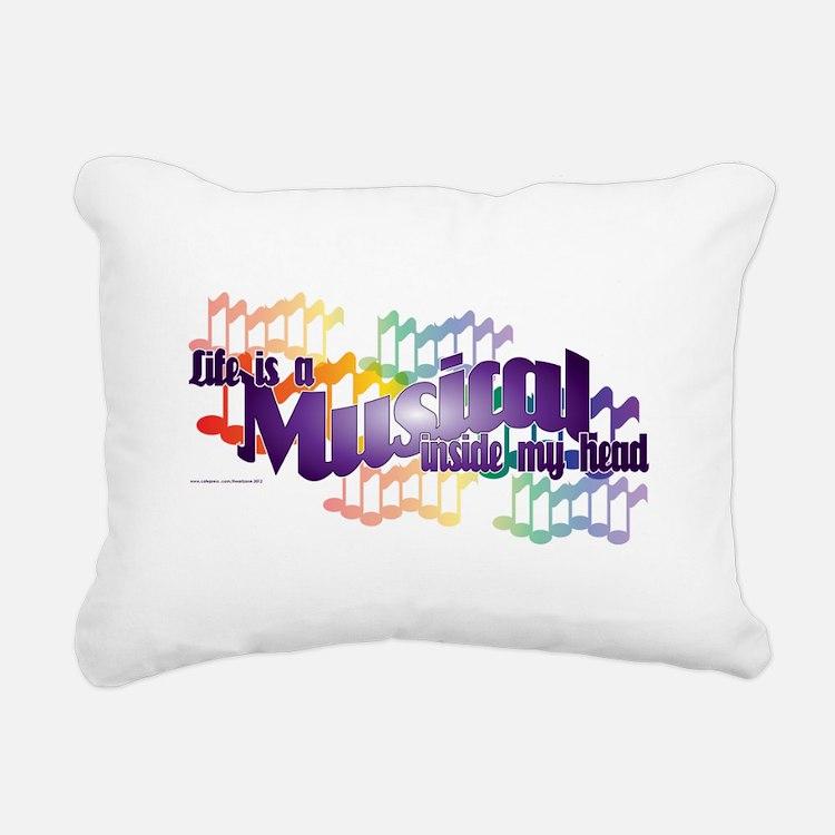 Life is a Musical Rectangular Canvas Pillow