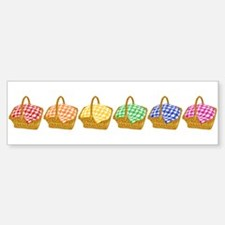 Rainbow Picnic Baskets Bumper Bumper Bumper Sticker