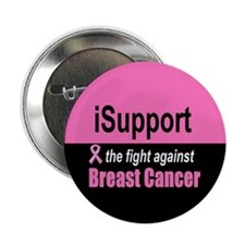 """Fight Against Breast Cancer 2.25"""" Button"""