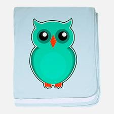 Teal Owl (cute) baby blanket