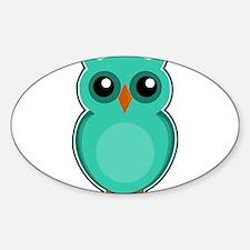 Teal Owl (cute) Decal