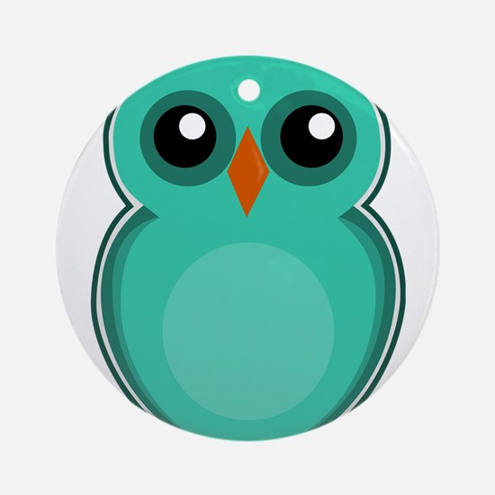 Teal Owl (cute) Ornament (Round)