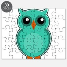 Teal Owl (cute) Puzzle