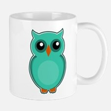 Teal Owl (cute) Mugs