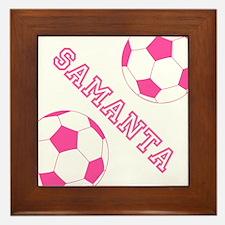 Soccer Girl Personalized Framed Tile