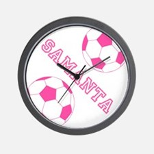 Soccer Girl Personalized Wall Clock