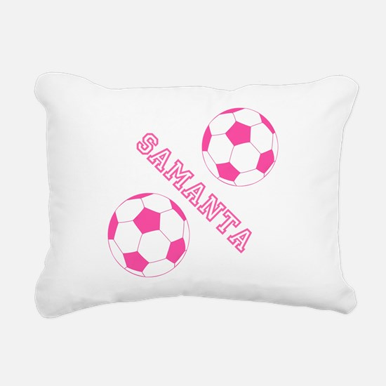 Soccer Girl Personalized Rectangular Canvas Pillow