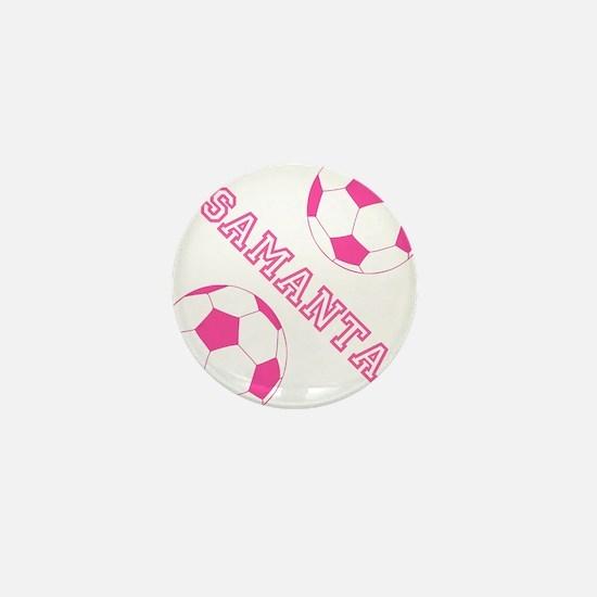 Soccer Girl Personalized Mini Button