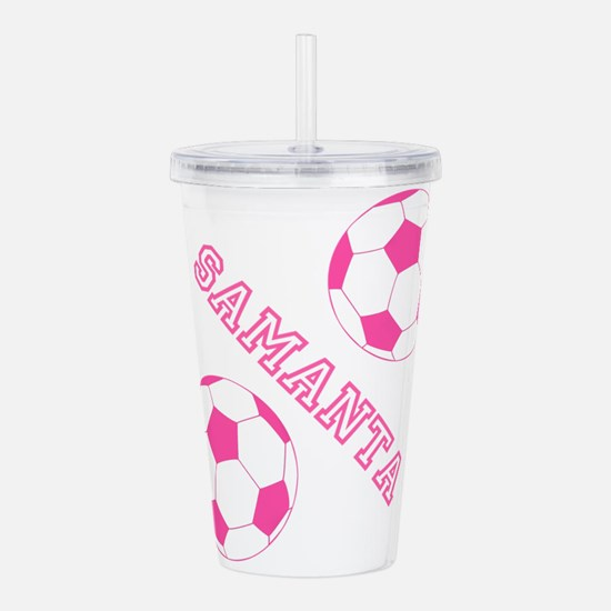 Soccer Girl Personalized Acrylic Double-wall Tumbl