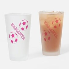 Soccer Girl Personalized Drinking Glass