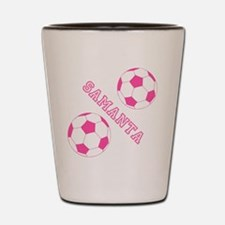 Soccer Girl Personalized Shot Glass