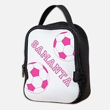 Soccer Girl Personalized Neoprene Lunch Bag