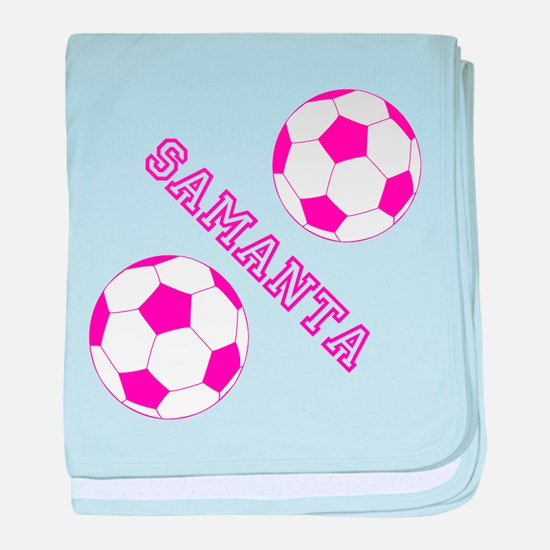 Soccer Girl Personalized baby blanket