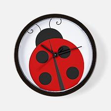 Kids Theme Ladybug Wall Clock