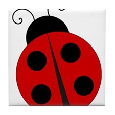 Kids Theme Ladybug Tile Coaster