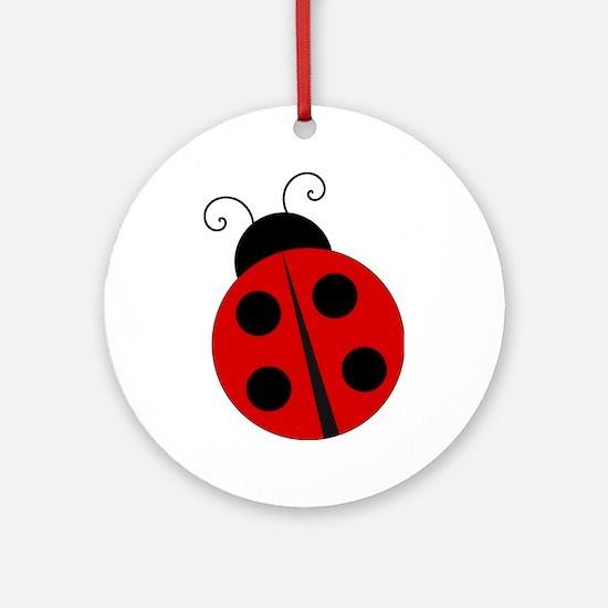 Kids Theme Ladybug Ornament (Round)