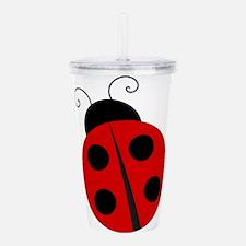 Kids Theme Ladybug Acrylic Double-wall Tumbler