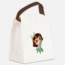The Day of The Dead Vintage Doll Canvas Lunch Bag
