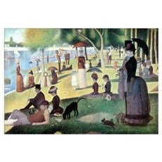 Sunday Afternoon by Seurat Canvas Art