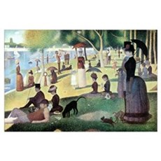 Sunday Afternoon by Seurat Poster