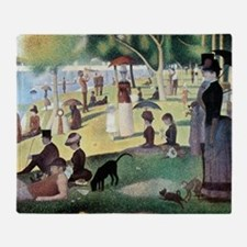 Sunday Afternoon by Seurat Throw Blanket