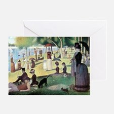 Sunday Afternoon by Seurat Greeting Card