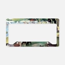 Sunday Afternoon by Seurat License Plate Holder