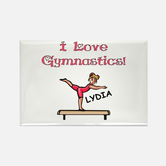I Love Gymnastics (Lydia) Rectangle Magnet
