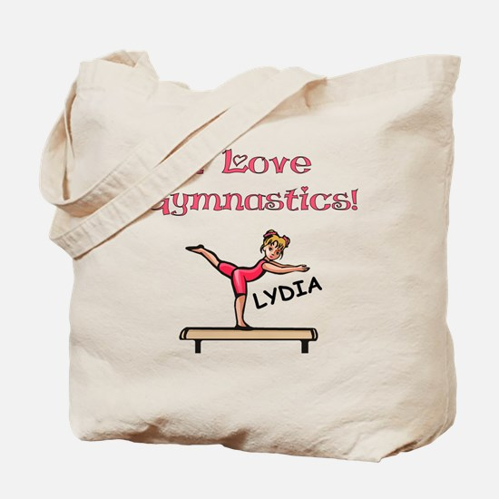 I Love Gymnastics (Lydia) Tote Bag