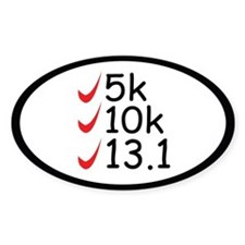 Running goals Bumper Stickers