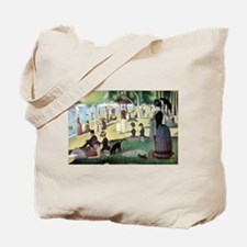 Sunday Afternoon by Seurat Tote Bag