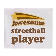 Awesome Streetball Player Throw Blanket