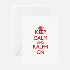 Keep Calm and Ralph ON Greeting Cards
