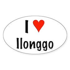 I love Ilonggo Oval Decal
