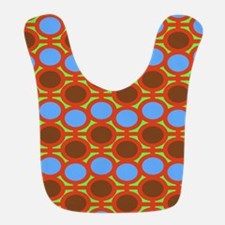 Earthy Browns and Blue Eyelets Bib