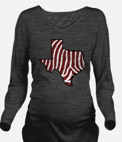 TAMU Zebra Long Sleeve Maternity T-Shirt
