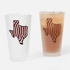 TAMU Zebra Drinking Glass
