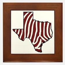 TAMU Zebra Framed Tile