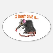 I Don't give a rats ass... Decal