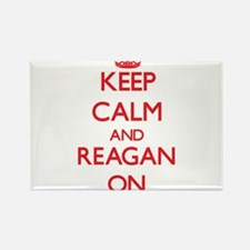 Keep Calm and Reagan ON Magnets