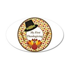 My First Thanksgiving Milestone Wall Decal