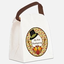 My First Thanksgiving Milestone Canvas Lunch Bag